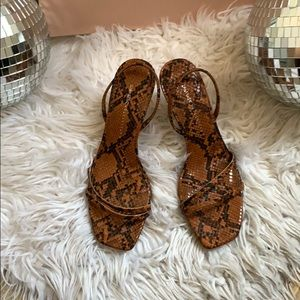 Zara Basics snakeskin heels